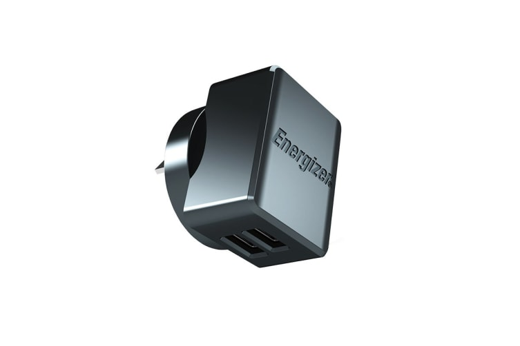 Energizer Hightech Universal 2.4A 2-Port USB Wall Charger Adaptor - Black