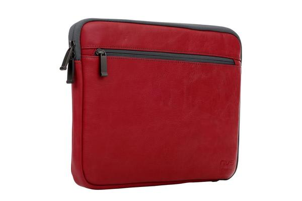 "NVS Premium Leather Sleeve 13"" - Red"