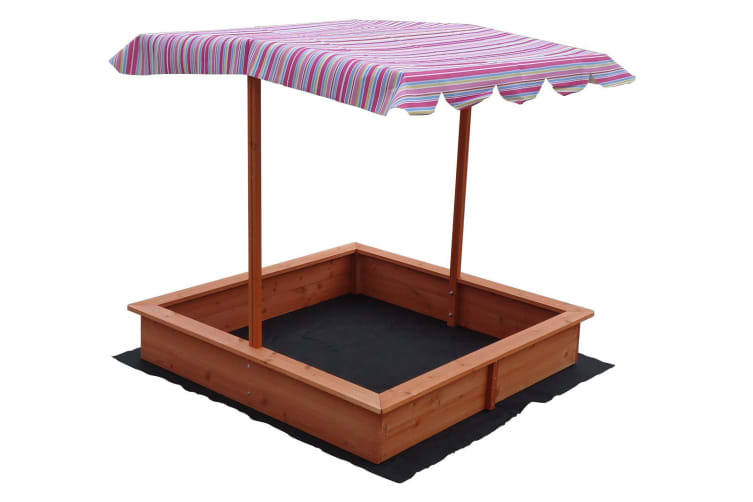 Wooden Toy Sand Pit with Adjustable Canopy