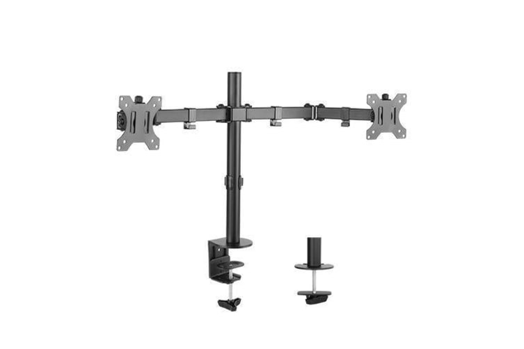 Brateck Dual Screens Economical  Double Joint Articulating Steel Monitor Arm for