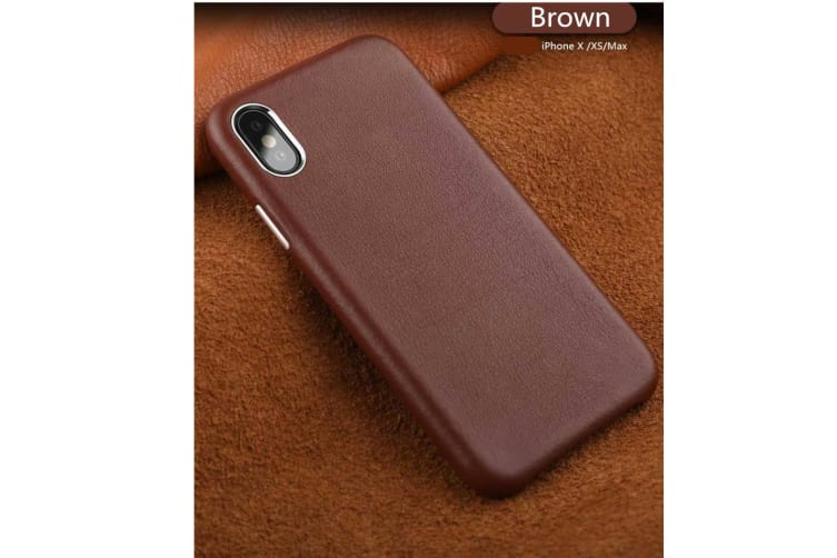 Full Leather Case Compatible With Iphone Real Leather,Covered Buttons Brown Iphonexs