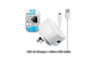Sansai USB AC charger with Micro USB cable for Samsung HTC Nokia Smart phones
