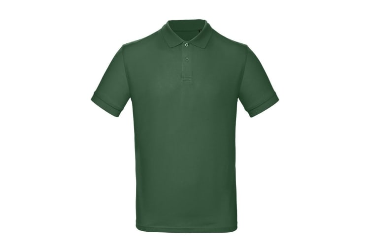 B&C Mens Inspire Polo (Pack of 2) (Racing Green) (M)