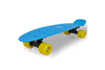 vidaXL Retro Skateboard with Blue Top Yellow Wheels 6.1""