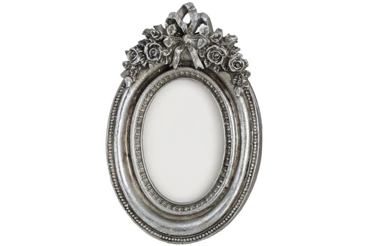 Hill Interiors Antique Silver Oval Photo Frame (Silver) (One Size)