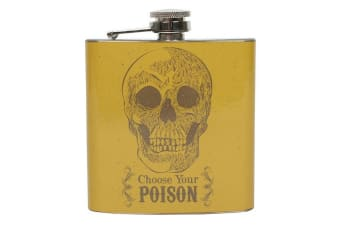 Cabinet Of Curiosities Choose Your Poison Hip Flask (Yellow) (One Size)