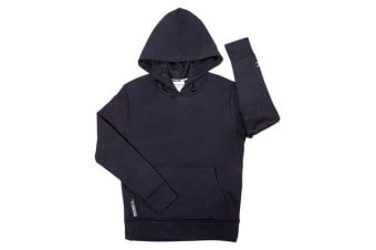 Champion Unisex Junior Fleece Hoodie (Ink Navy, Size 8)