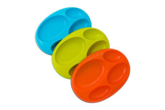BOON PLATTER Blue/Orange/Green - 3 Pack