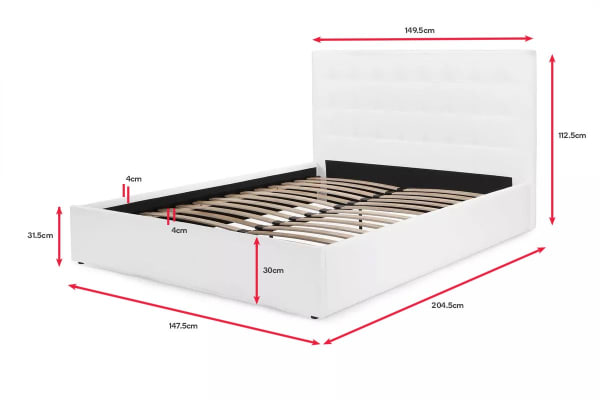 Shangri-La Bed Frame - Symphony Collection (White, Double)