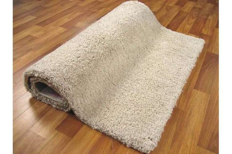 Pack of 2 Awesome Shag Rugs Cream 130x70cm