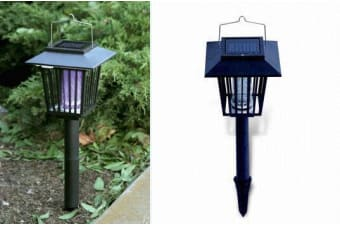 2 in 1 Bug Zapper and LED Light Mosquito Insect Fly Killer Garden Outdoor Decor