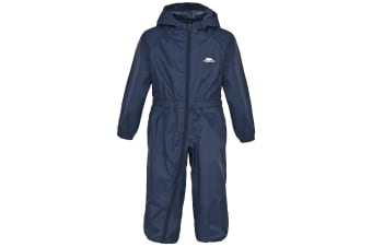 Trespass Babies Button Waterproof Rain Suit (Navy Blue)