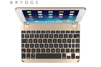 "Brydge 7.9-Inch Wireless Bluetooth 3.0 Keyboard for Apple iPad Mini 4/7.9"" Gold"