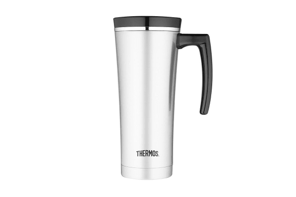 Thermos Sipp 470ml Vacuum Insulated Travel Mug (Stainless Steel/Black)