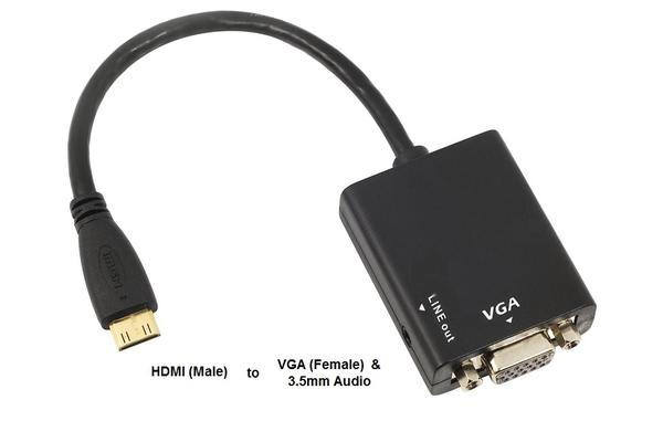 8Ware HDMI to VGA Adapter With Audio, 1080P Support
