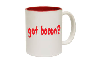 123T Funny Mugs - Got Bacon - Red Coffee Cup