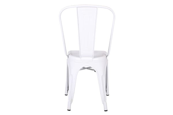 Ovela Set of 4 Tolix Replica Dining Chairs (White)