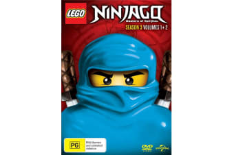 LEGO Ninjago Season 3 Volume 1 & 2 DVD Region 4