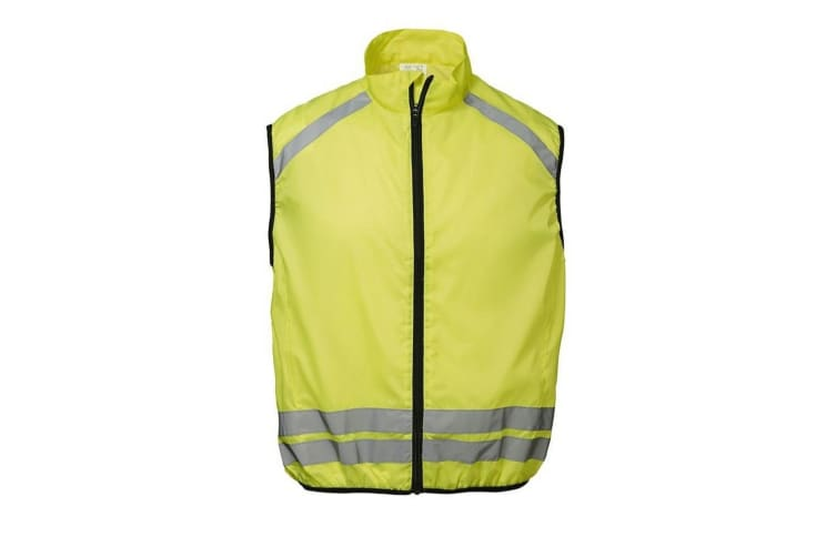 ID Reflective Hi-Visibility Regular Fitting Running Vest (Fluorescent yellow) (XS/S)