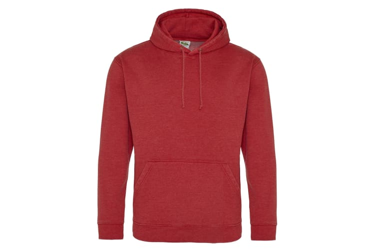 AWDis Hoods Adults Unisex Washed Look Hoodie (Washed Fire Red) (XS)