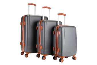 Milano Luggage Elite Series 3 Piece Set (Grey Brown)