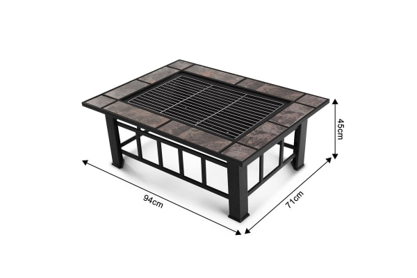 3 IN 1 BBQ Grill Table w/Removable Roaster - Extra Long