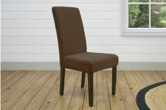 SureFit Pearson Dining Chair Cover - Coffee