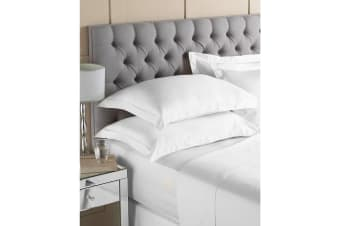 Riva Paoletti Egyptian Quality Cotton Fitted Sheet (White) (Single)
