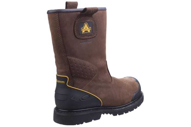 Amblers Safety FS223C Safety Rigger Boot / Mens Boots (Brown) (8 UK)