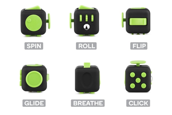 Fidget Cube (Black/Green)