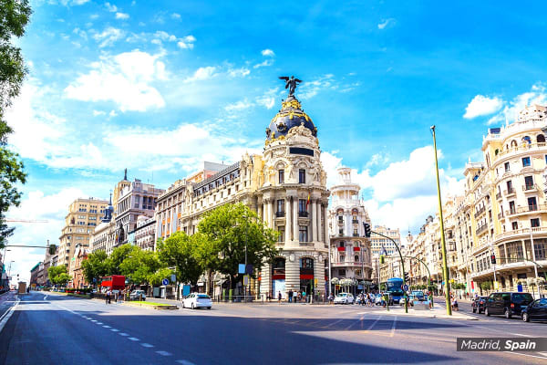 EUROPE: 18 Day Classic Spain with 7 Night Cruise Including Flights for Two (Interior Cabin)