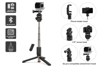 Kogan Universal Bluetooth Selfie Stick and Tripod 2 in 1