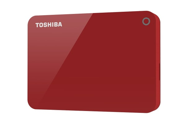 Toshiba Canvio Advance V9 USB 3.0 Portable External Hard Drive 3TB - Red (HDTC930AR3CA)