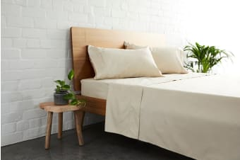 Jamie Durie By Ardor 225TC Bamboo & Cotton Sheet Set (King, Natural)