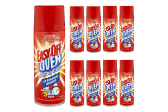 9x Easy of Oven 325g Heavy Duty No Scrubbing Cleaner Spray Ovens/BBQ Grill/Grime