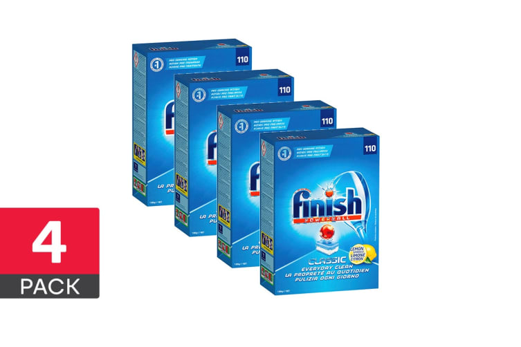 440 Finish Classic Powerball Dishwashing Tablets - Lemon (4 x 110 Pack)