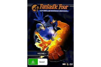 Fantastic Four Volume 1 -Animated Series Rare- Aus Stock DVD NEW