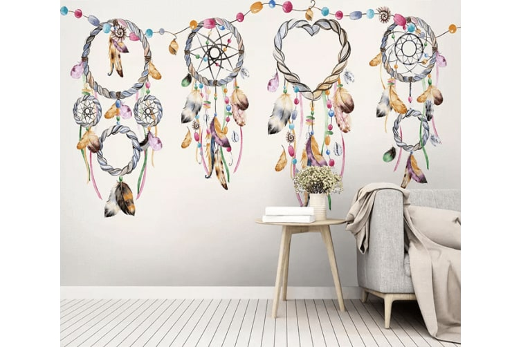 3D Feathered Wind Chime 308 Woven paper (need glue), XXXXL 520cm x 290cm (WxH)(205''x114'')