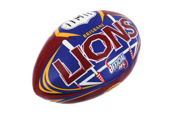 Summit AFL Brisbane Lions 20cm Large/Soft Rugby Ball Play/Game/Toys Kids/Boys