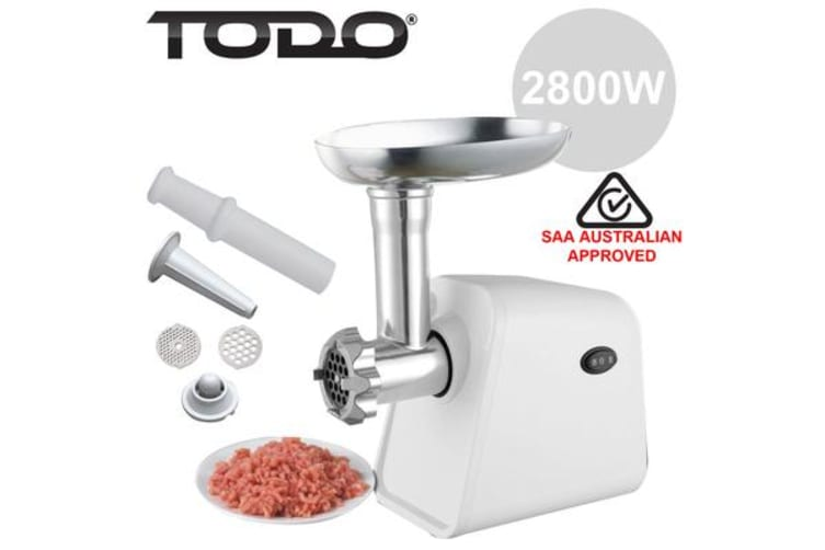 Todo Electric Meat Grinder Sausage Maker Filler Mincer Stuffer Kibbe 800W - Blue