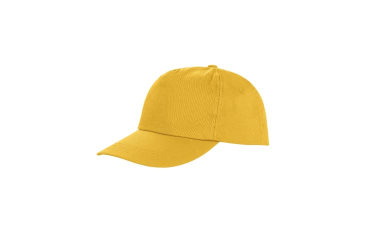 Result Unisex Core Houston 5 Panel Printers Baseball Cap (Pack of 2) (Yellow) (One Size)