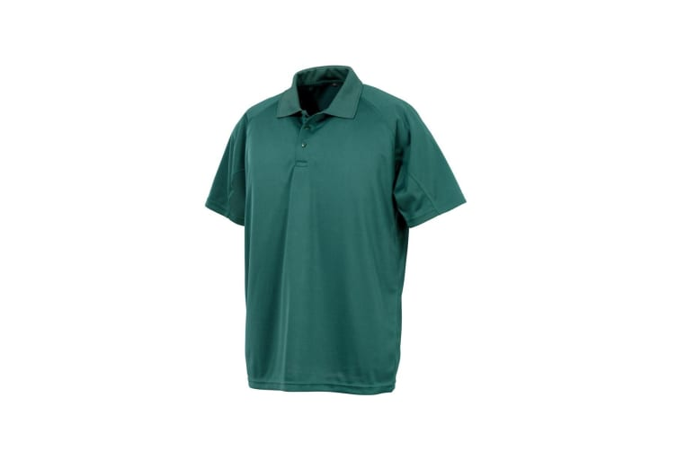 Spiro Impact Mens Performance Aircool Polo T-Shirt (Bottle Green) (XS)