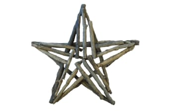 Chunky Hanging Star Decoration (Brown) (Medium)