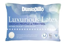 Dunlopillo Luxurious Latex Medium Profile Pillow (Firm Feel)