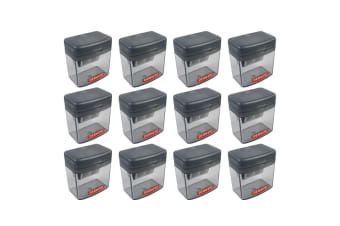 12x Derwent Two/Twin Hole Stationery School/Office Supplies Pencil Sharpener GRY