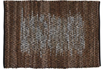 Loosong Cotton & Leather Hand-Knit Rug