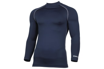 Rhino Mens Thermal Underwear Long Sleeve Base Layer Vest Top (Navy) (XS)