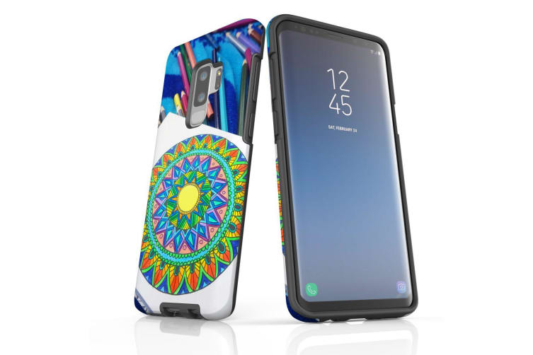 For Samsung Galaxy S9+ Plus Case Armour Cover  Pencil Coloring