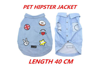Dog Hipster Jacket Coats Pet Puppy Flexible Warm Washable Vest Clothes Cute 40cm