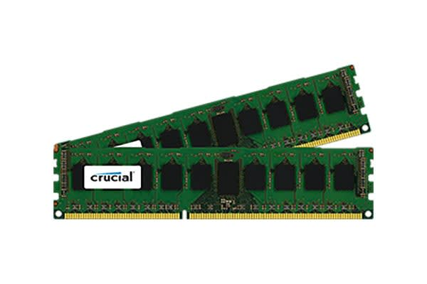 Crucial 16GB Kit (8GBx2) DDR3L 1600MT/s (PC3-12800) DR x8 ECC UDIMM 240p